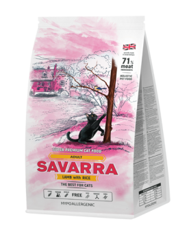 Savarra Adult Lamb with Rice сухой корм для кошек Ягненок/рис.