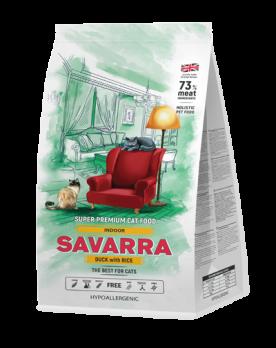 Savarra Indoor Duck with Rice сухой корм для кошек живущих в помещении Утка/рис