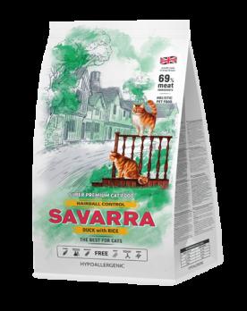 Savarra Hairball Control Duck with Rice сухой корм для кошек Утка/рис