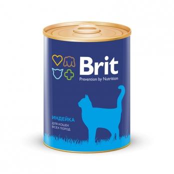 Brit консервы для кошек Индейка 340г