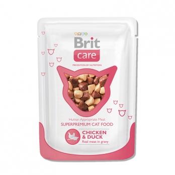 Brit Care пауч для кошек Курица и Утка 80г