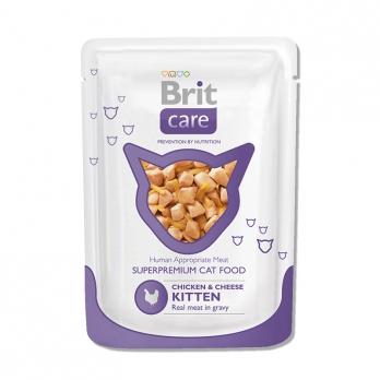 Brit Care пауч для котят Курица и сыр 80г