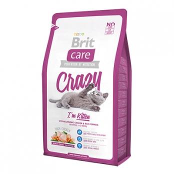 Brit Care Crazy Kitten сухой корм для котят, беременных и кормящих кошек