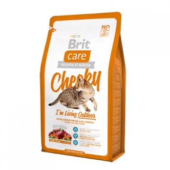 Brit Care Cheeky Outdoor сухой корм для активных кошек и кошек уличного содержания 400г