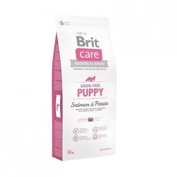 Brit Care GF Puppy Salmon & Potato корм беззерновой для щенков всех пород Лосось с картофелем