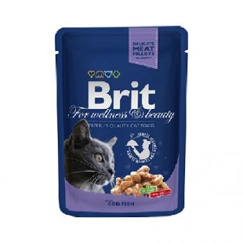 Brit Premium пауч для кошек Треска 100г