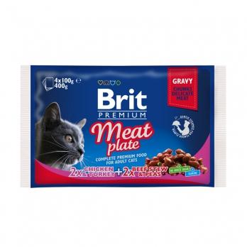 Brit Premium Набор паучей для кошек Мясная тарелка 4*100г