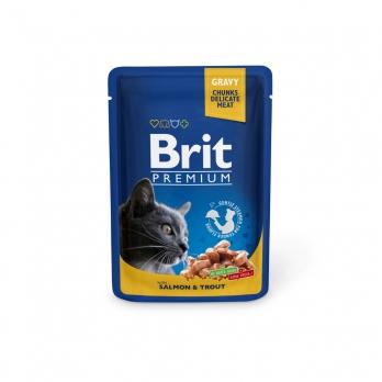 Brit Premium пауч для кошек Лосось и форель100г