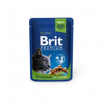 Brit Premium пауч для стерилизованных кошек Курица 100г