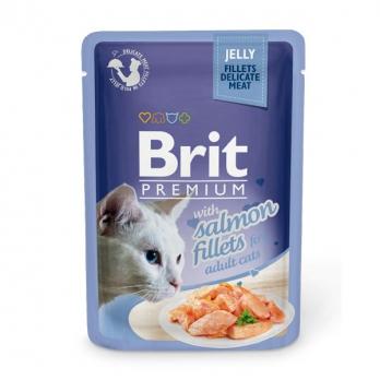 Brit Premium пауч для кошек филе Лосося в желе 85г
