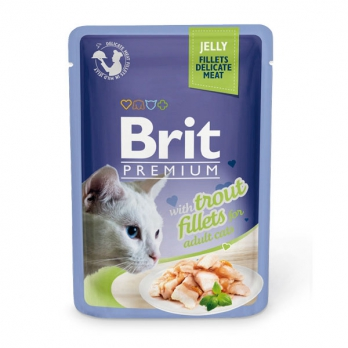 Brit Premium пауч для кошек филе Форели в желе 85г