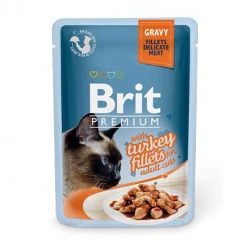 Brit Premium пауч для кошек филе Индейки в соусе 85г