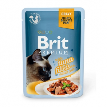 Brit Premium пауч для кошек филе Тунца в соусе 85г