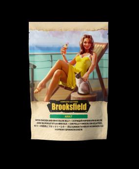Brooksfield Adult Chicken with Broccoli пауч для кошек Курица с брокколи в желе 85г