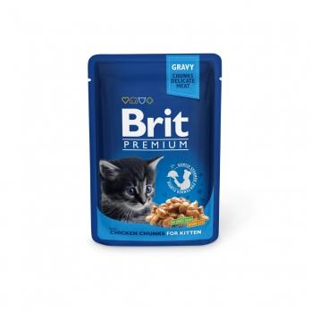 Brit Premium пауч для котят Курица 100г