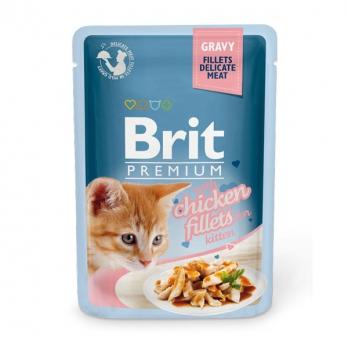 Brit Premium пауч для котят Куриное филе в соусе 85г
