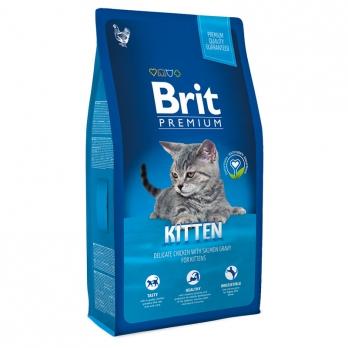 Brit Premium сухой корм для котят Курица в лососевом соусе