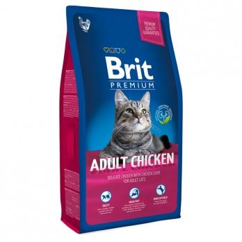 Brit Premium сухой корм для кошек Курица с куриной печенью