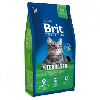 Brit Premium сухой корм для кастрированных котов Курица/Куриная печень