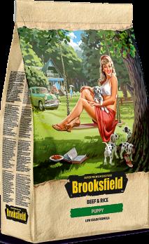Brooksfield Puppy Beef & Rice сухой корм для щенков Говядина/рис 800г