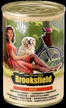 Brooksfield Adult консервы для собак Говядина с Индейкой 400г