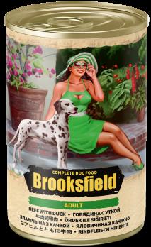 Brooksfield Adult консервы для собак Говядина с Уткой 400г