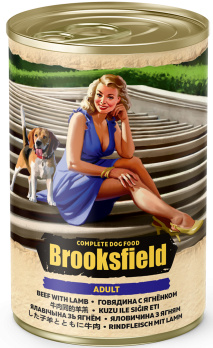 Brooksfield Adult консервы для собак Говядина с Ягнёнком 400г