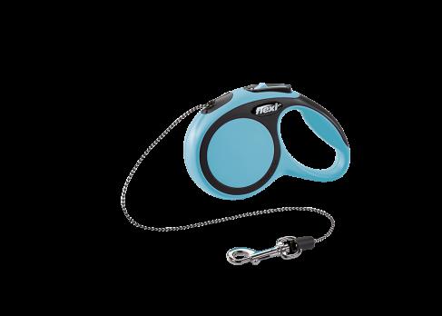 Flexi Рулетка-трос для собак до 8кг, 3м, голубая (New Comfort XS Cord 3 m, blue)