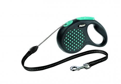 Flexi Рулетка-трос для собак до 12кг, 5м, голубая (Design S Cord 5 m, blue)