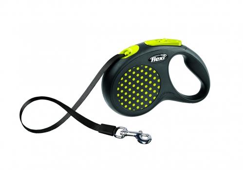 Flexi Рулетка-ремень для собак до 15кг, 5м, голубая (Design S Tape 5 m, blue)