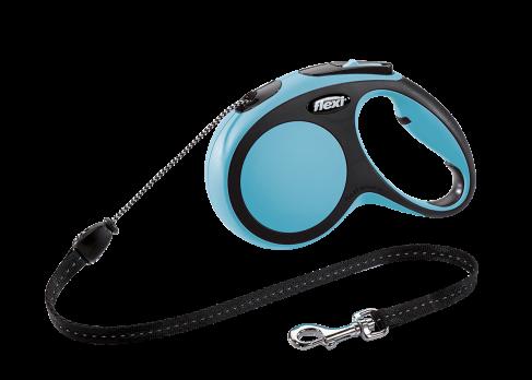 Flexi Рулетка-трос для собак до 20кг, 5м, голубая (New Comfort M Cord 5 m, blue)