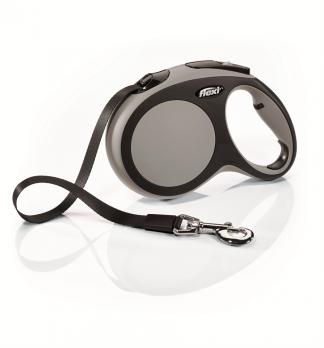 Flexi Рулетка-ремень для собак до 15кг, 5м, голубая(New Comfort S Tape 5 m, blue)