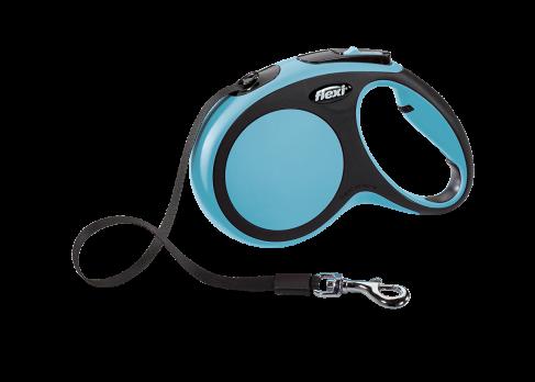 Flexi Рулетка-ремень для собак до 25 кг, 5м, голубая (New Comfort M Tape 5 m, blue)