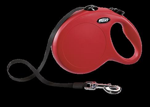 flexi рулетка New Classic L (до 50 кг) лента 8 м красная