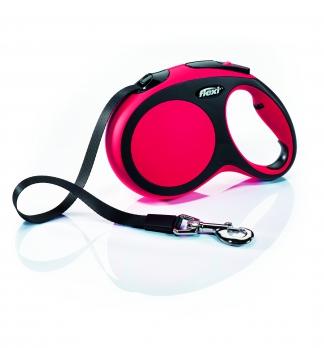 Flexi Рулетка-ремень для собак до 60кг, 5м, голубая (New Comfort L Tape 5 m, blue)
