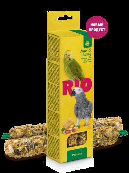 Рио Палочки для попугаев с Медом и орехами 2шт*90г