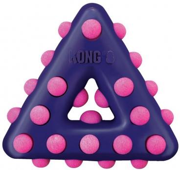 KONG игрушка для собак Dotz треугольник