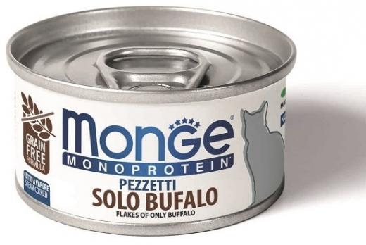 Monge Cat Monoprotein мясные хлопья для кошек из мяса буйвола 80г