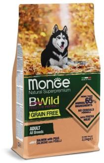 Monge Dog BWild GRAIN FREE беззерновой корм из лосося и гороха для взрослых собак всех пород