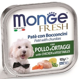 Monge Dog Fresh консервы для собак курица с овощами 100г