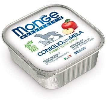 Monge Dog Monoprotein Fruits консервы для собак паштет из кролика с яблоком