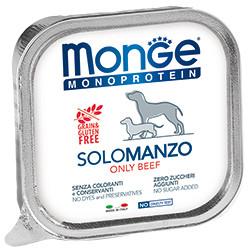 Monge Dog Monoprotein Solo B&S консервы для собак паштет из говядины 150г