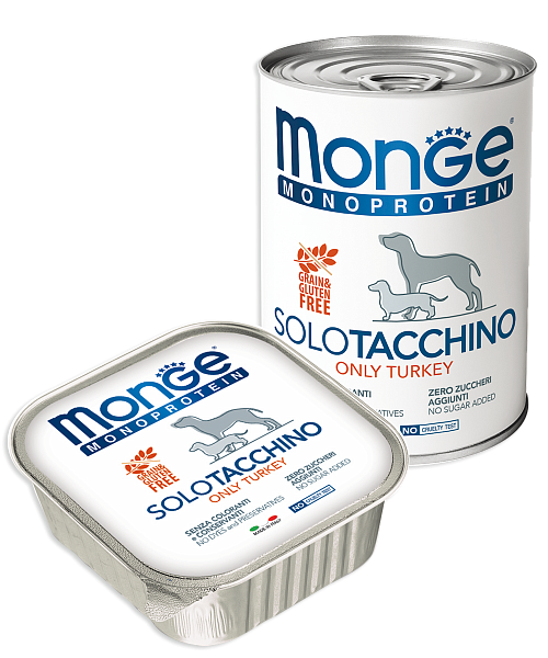 Monge Dog Monoprotein Solo консервы для собак паштет из индейки 400г