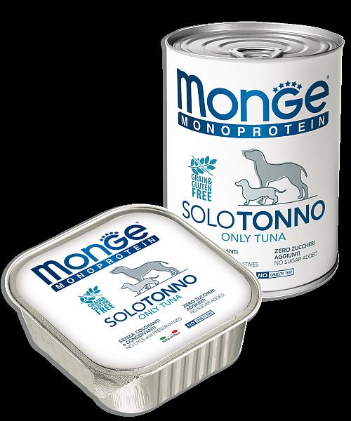 Monge Dog Monoprotein Solo консервы для собак паштет из тунца 400г