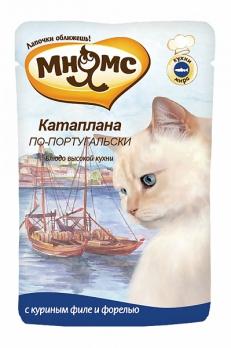 Мнямс паучи для кошек Катаплана по-португальски (с форелью) 85 г