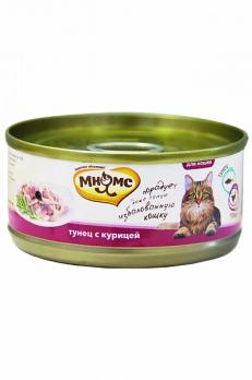 Мнямс консервы для кошек Тунец с курицей в нежном желе 70 г