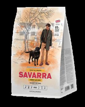 Savarra Adult All Breeds Turkey with Rice сухой корм для собак Индейка/рис