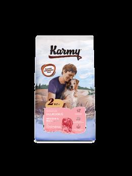 Karmy Delicious Medium & Maxi сухой корм для привередливых собак средних и крупных пород Телятина 15кг