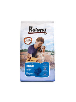 Karmy Maxi Adult сухой корм для собак крупных пород Индейка