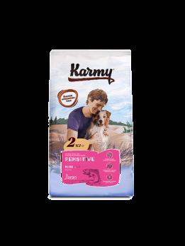 Karmy Sensitive Mini сухой корм для собак мелких пород с чувствительным пищеварением Лосось